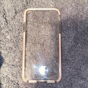 Clear iPhone case with pink side